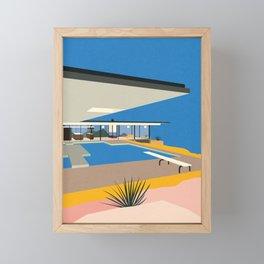 The Stahl House Framed Mini Art Print