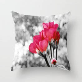 Pink FLOwERS Pop of Color Throw Pillow