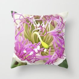 Caper Flower Blossom Throw Pillow