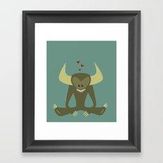 Love Monster 2 Framed Art Print
