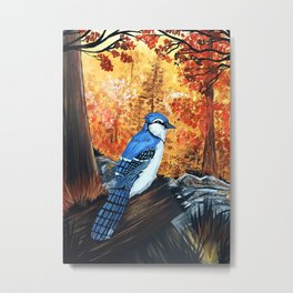 Blue Jay Life Metal Print