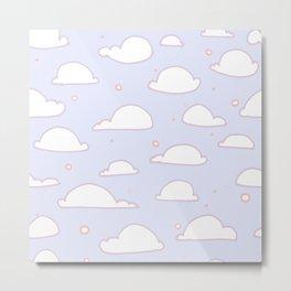 Floating Clouds Metal Print