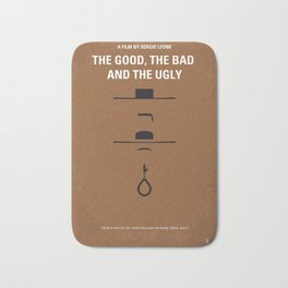 No090 My The Good The Bad The Ugly minimal movie poster Bath Mat