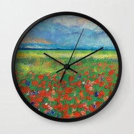 Poppy Field Wall Clock