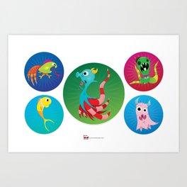Sal Sea Horse and Friends. Art Print