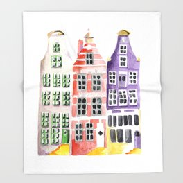 Amsterdam houses Throw Blanket