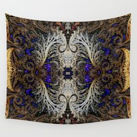 ornate elephant Wall Tapestries featuring Ornate by RingWaveArt