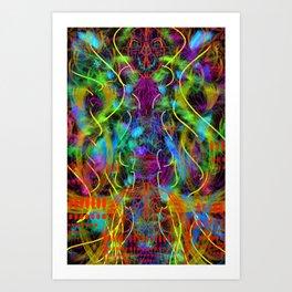 Teeth Chattering Rhythms Art Print