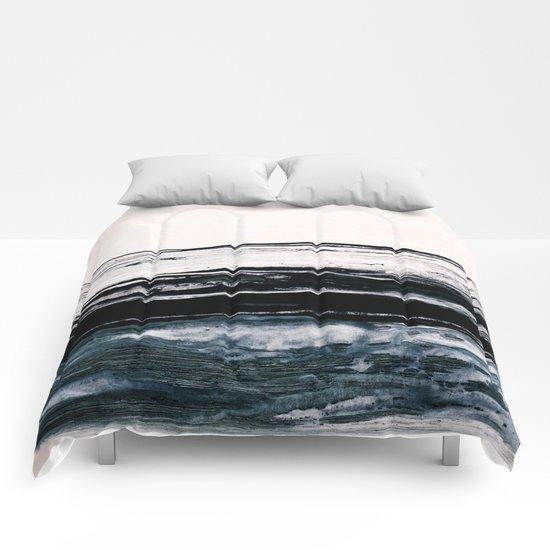 abstract minimalist landscape 9 Comforters