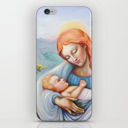 Maria and child. Madonna iPhone Skin