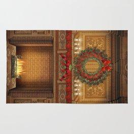 Christmas Fireplace Rug