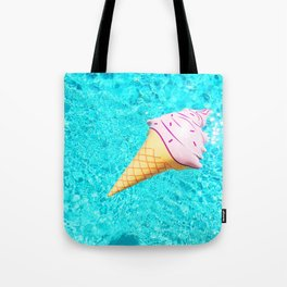 pink ice cream cone float all up in my pool yo Tote Bag