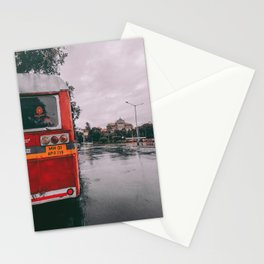 Bus in the CIty Stationery Cards