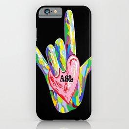 I Heart ASL iPhone Case