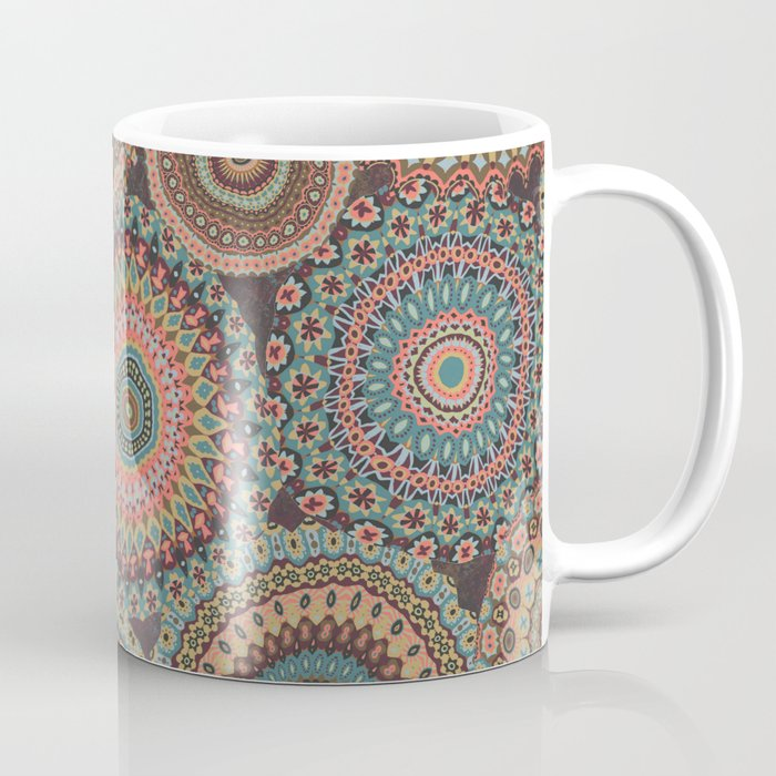 Boho Patchwork-Vintage colors Coffee Mug