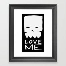 Inverted LOVE ME Framed Art Print