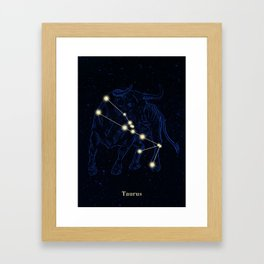 Zodiac constellations — Taurus Framed Art Print