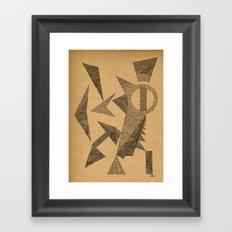 - silence - Framed Art Print