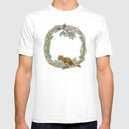 Squirrel wreath T-shirt
