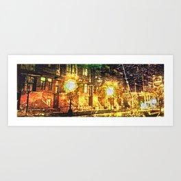 Bright Lights. Big City Art Print