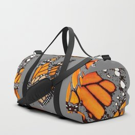 DECORATIVE MONARCH BUTTERFLY GREY DISPLAY CHART Duffle Bag
