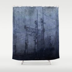 Electricity in the mist Shower Curtain