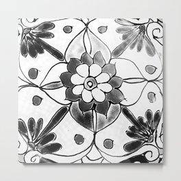Black and White Talavera Four Metal Print