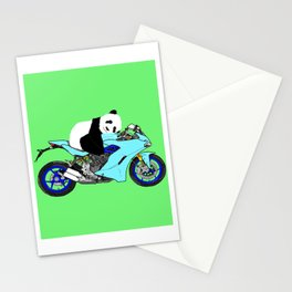 Panda on Bike Stationery Cards