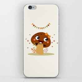 Champignon marron iPhone Skin