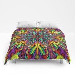 Crazy colors 3D mandala Comforters