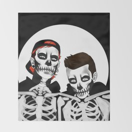 skeleton tyler n josh Throw Blanket