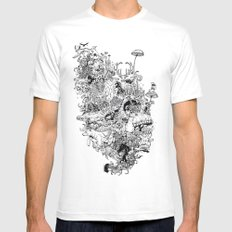 Growth MEDIUM White Mens Fitted Tee