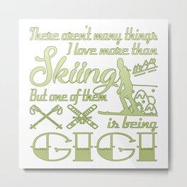 Skiing Gigi Metal Print