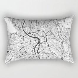 Toulouse Map Gray Rectangular Pillow
