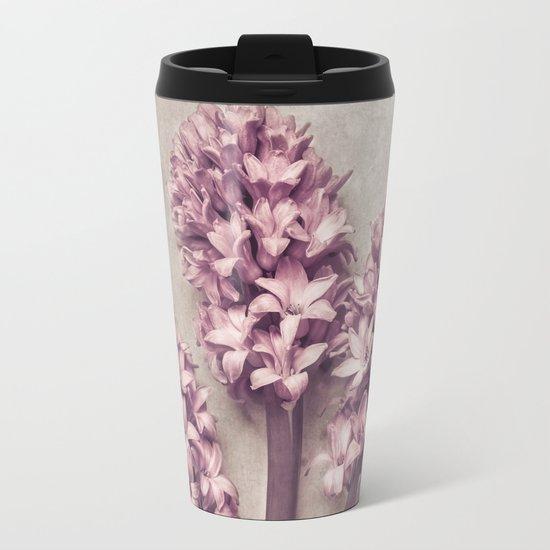 Lovely pink Hyacinths Metal Travel Mug
