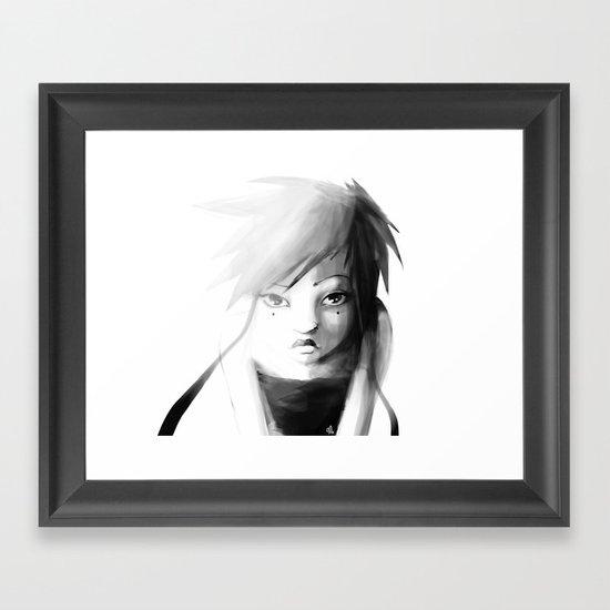 Grey Japanita Framed Art Print