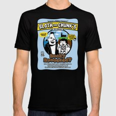Sloth and Chunk's Ice Cream MEDIUM Black Mens Fitted Tee