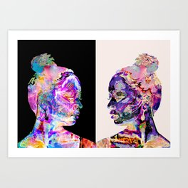 Twins Psychedelic Art Print