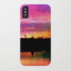 Watercolor January Texas Sunrise iPhone X Slim Case