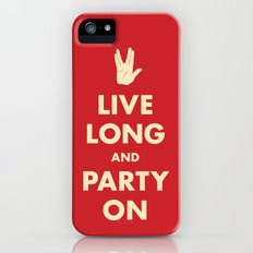 Live Long and Party On (Red) Slim Case iPhone (5, 5s)