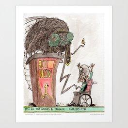 Monsters - 04 The Sucker-Sucker Art Print