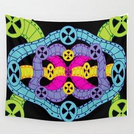 Neon Reels Wall Tapestry