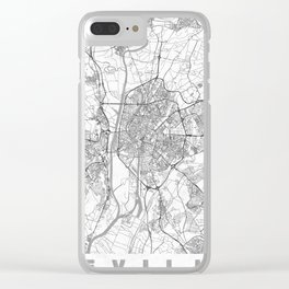 Seville Map Line Clear iPhone Case