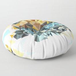 Bumblebee Low Poly Portrait Floor Pillow