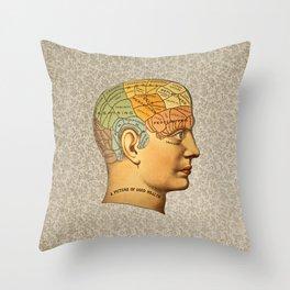 Phrenology | A Picture of Good Health circa 1881 Throw Pillow