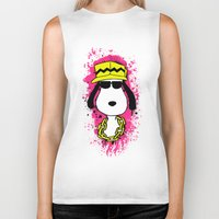 snoopy Biker Tanks featuring Snoopy Dog by Mateus Quandt
