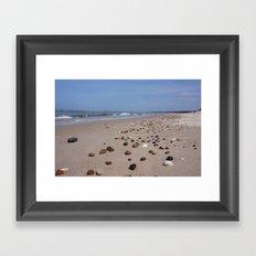 Shiney Stoney Beach - Nairn Scotland - Stones Framed Art Print