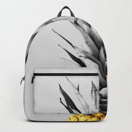 Gray and golden pineapple Backpack