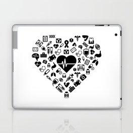 I Love First Aid | Doctor Nurse Heart Hospital Laptop & iPad Skin