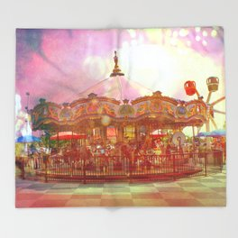 Merry Go Round Throw Blanket